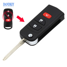 Dandkey Remote Folding Key Flip Shell Case Uncut Blank For Chrysler Dodge Stratus Jeep 3 Buttons