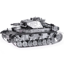 Metal 3D Puzzle Tank DIY Model Military Tank Stainless Steel Jigsaw Educational Toys for Kid 88 M09(China)