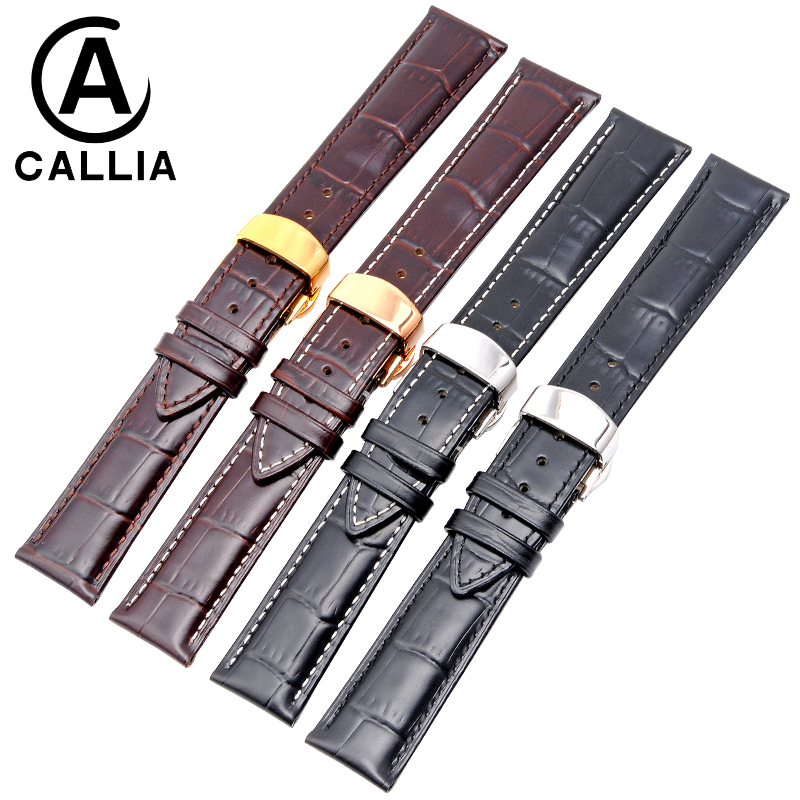 12 14 16 18 19 20mm 21mm 22mm 24mm Soft High Quality Genuine Leather Alligator Grain Watch Strap Band for Mido Calf Watchband <br>