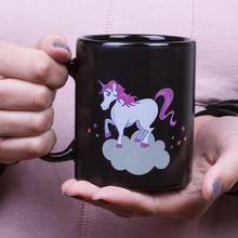 Unicorn MUGs Color Changing Tea & Coffee Bottle Hot Water Transformation Cartoon Rainbow Cups Thermal Induction Christmas Gifts(China)
