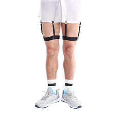 Punk Mens Shirt Stays Garters Suspender Braces For Shirts Gentleman Leg Elastic Men Shirt Garter Holder Business Suspenders(China)