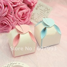 flower shape  favor Wedding Candy Boxes party gifts packing paper chocolate packaging ,200pcs/lot Free shipping