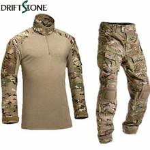 Army Military Uniform Camouflage Tactical Combat Suit Airsoft War Game Clothing Shirt + Pants Elbow Knee Pads(China)