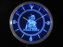 nc0217 Boba Fett Star Wars Neon Sign LED Wall Clock