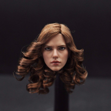 "1:6 Scale Scarlett Johansson Black Widow Head Sculpt With Brown Curly Hair Female Headplay Model For 12"" Female Figure(China)"