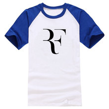 2017 Summer T Shirt Men RF Perfect Letters Design T shirt Roger Federer Short Sleeve T-shirts O-Neck Cotton Tees HipHop Tops(China)