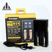 NOKOSER D2 S Smart Universal LCD LI-ion NiCd NiMh AA AAA 10440 14500 16340 17335 17500 18490 17670 18650 Battery Charger(China)