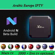Android TV Arabic IPTV 4K Europe IPTV Support 1300+ Live TV Arabic French Spain Italy Indian IPTV Box Quad Core Set Top Box(China)