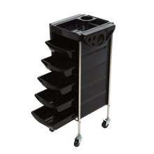 6 Layers Hairdressing Trolley Salon Barber Hair Coloring Rolling Storage Cart Hair Rolling Cart Hairdresser Trolley Storage Tool(China)
