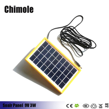 3W 9V Mini Solar Cell Polycrystalline Solar Panel DIY Panel Solar Power Battery Charger outdoor solar for LED Garden lighting(China)