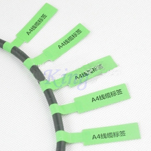 Blank Network Cable Labels Sticker A4 Sheet 84x26mm 900 Pieces P Shape Green Color Waterproof Tearproof oilproof(China)