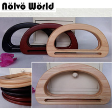 5 pairs=10 pieces,17.3X9.5cm,15X8.5cm Solid Oak Tree Wood hand made bags handbags handle,Make your own Wood bag purse handle