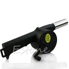 Hand Crank BBQ Blower Fireplace Camping Bellows Grill Fire Starter Flame Exciter