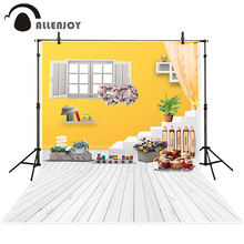 Allenjoy photographic background Windows bear toy train children backdrops christmas wedding summer Send folded 8x12ft(China)