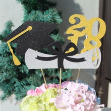 Graduation Centerpieces 2018 Grad Cap Diploma certificate Class of 17 Graduation Party Open House decoration 3 pieces(China)