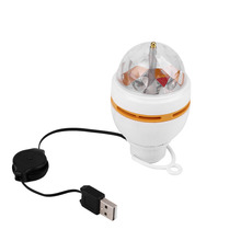 New Mini RGB LED MP3 DJ Club Pub Disco Party Music Crystal Magic Ball Stage Effect Light Auto Rotating Bulb With USB Interface