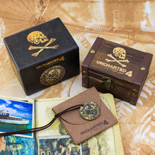 PS4 Uncharted 4 Pirate Gold Coin Game Anime Hot Toys Birthday Gifts For Kids With Limited Sheepskin Bag And Wooden Box