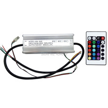 IP67 Waterproof 60W RGB LED Driver AC90-265V DC40V 600MA With Remote Controller With Memory Function