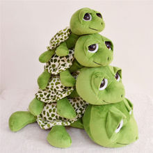 Baby Toy Big Eyes Green Tortoise Sea Turtle Stuffed Plush Doll Animal Toy Gift