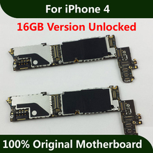 Unlocked Mainboard For iPhone 4 Motherboard 16GB Good Working Original IOS Installed Logic Board