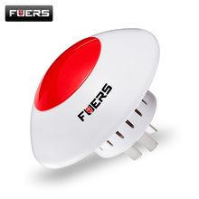 Alarm Flash Horn Wireless Flashing Siren hot product Red Light Strobe Siren 433 MHz suit for most Alarm System Wireless Siren