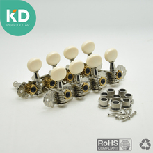 High Quality Nickel Plating Steel Machine Tuners Tuning Keys Pegs for Mandolin Instrument with White Plastic Knobs(China)