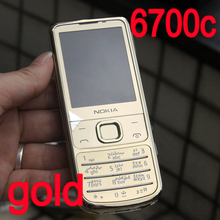NOKIA 6700c Mobile Phone 6700 Classic Cellphone 3G GSM Unlocked Gold & Arabic Keyboard Refurbished(China)