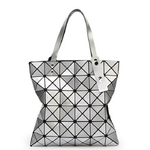 Fashion Handbags Geometric Type Women's Handbag Women Bags 2016 Large Capacity Female Shopping Bag PU Soft Designer Shoulder Bag(China)