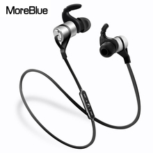 MoreBlue D9 Wireless Bluetooth Earphones HIFI Stereo Bass Headphones Sport Running Headset Waterproof Earbuds Handsfree With Mic(China)