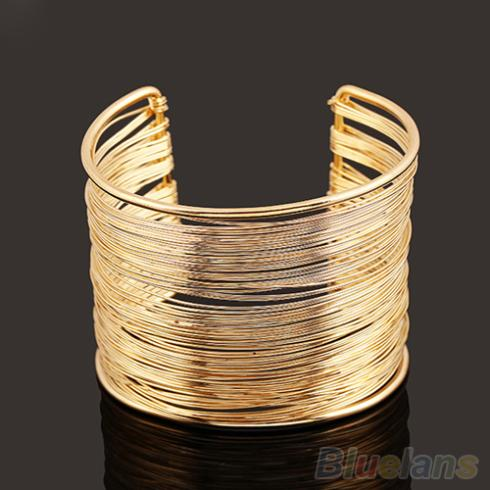 New Fashion Women's Metal Multilayer Strings Wristband Cuff Jewelry Bangle Bracelet 1S5V 6OW6(China (Mainland))