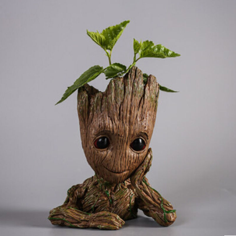 "Guardians of The Galaxy Vol 2 Baby Groot 7/"" Figure Flowerpot Style Toy Gift"