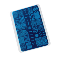 Big Mixed Design Stainless Steel Nail Stamping Plates Nail Art Stamp Template Manicure Nail Tools(China)
