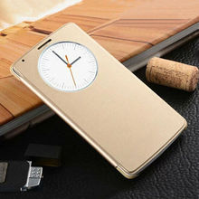 Slim Quick Smart Circle View Shell Auto Sleep Wake Function Original Back Flip Leather Case Holster Cover For LG G3 5.5 inch
