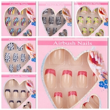Brand New 24 pcs Full Nail Tips Acrylic False Nails French Style Faux Ongles 2-19mm Long for False Fingernails Free Nail Glue