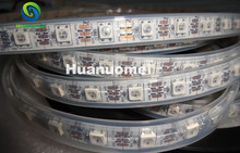 4m DC5V WS2812B led pixel strip light,IP68,60pcs WS2812B/M with 60pixels;white PCB, in silicon tube,only 4PIN