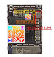 5set/lot for iphone 6 6plus Backlight IC Chip U1502 + Backlight coil L1503 +backlight diode D1501 + fuses filters Fl2024-25 26