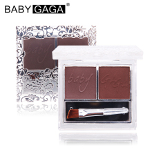 BABY GAGA Eyebrow Enhancer Professional Pallete Eye Brow Makeup Long-Lasting Eyebrow Powder With Brush Eye Make Up Cosmetic
