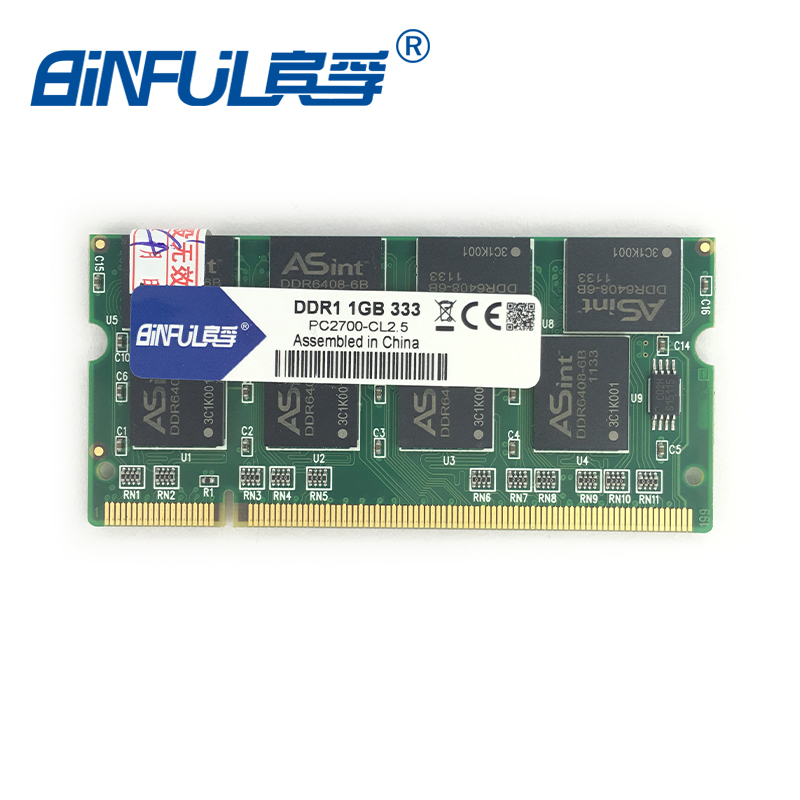 Binful Original New Brand other brands ddr 1GB PC-2700 DDR 333mhz MEMORY ram 200PIN Laptop SDRAM Notebook(China)