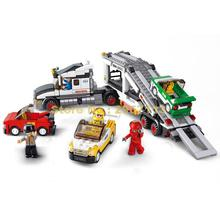 Sluban 0339 City Auto Transport Truck = Aircraft Car Building Blocks