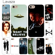 Lavaza The X Files I want to believe Hard Coque Branco Shell Caixa Do Telefone para Apple iPhone 8 7 6 6 S Plus 5 5S SE 5C 4S X 10 Enseada