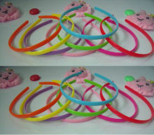 Mixed 8 Colors Red Pink Green Yellow Purple 8mm HIPS Plastic Girls Children Hairbands Headbands Hair Band Accessories EH87