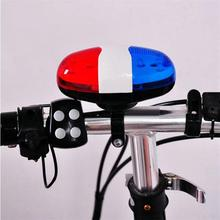 Trumpet Cycling Horn Bell Bicycle 6 red blue led light with bike Outdoor sports(China)