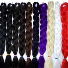 "82"" 25 Colors Synthetic Braiding Hair Extension Bulk Crochet Box Braids Hairstyles Black Purple Blue Color"