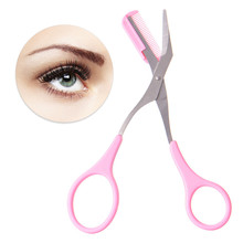 Eyebrow Trimmer Scissors Comb Lady Woman Men Hair Removal Grooming Shaping Shaver eye brow trimmer Eyelash Hair Clips