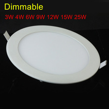 Ultra thin Recessed Mounted 25W AC85~265V Dimmable LED Ceiling light Cool/Natural/warm white LED Down light Panel light