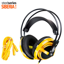 Brand Steelseries Siberia V2 Natus Vincere Edition Gaming Headphone Noise Isolating Game Headphones Headset + Extension cord