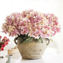 1pc Wedding Artificial Hydrangea Flower Home Wedding Party Birthday Floral Decor(China)
