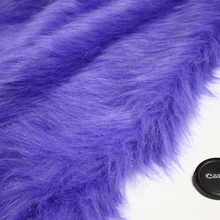 "Purplish Blue Solid Shaggy Faux Fur Fabric (long Pile fur)  Costumes  Cosplay  Cloth  36""x60"" Sold By The Yard  Free Shipping"