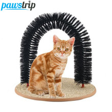 Funny Pet Cat Toy Plastic Bristles Arch Cat Kitten Massage Grooming Products(Free Catnip Provide)