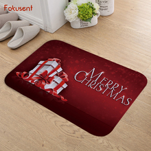 FOKUSENT Flannel Doormat New Design Merry Christmas Floor Mat Tapete for Bedroom Kitchen(China)